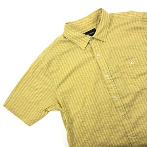 Brixton Yellow Button Up T-Shirt Mens Medium